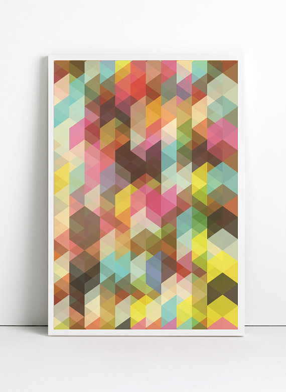 etsy finds geometric shapes: angela ferrara print