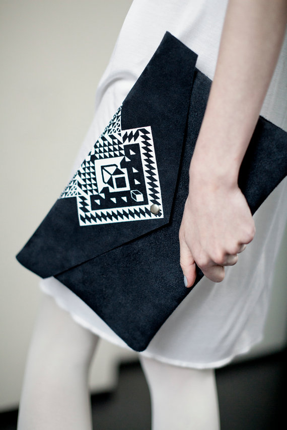 etsy finds geometric shapes: coriumi clutch
