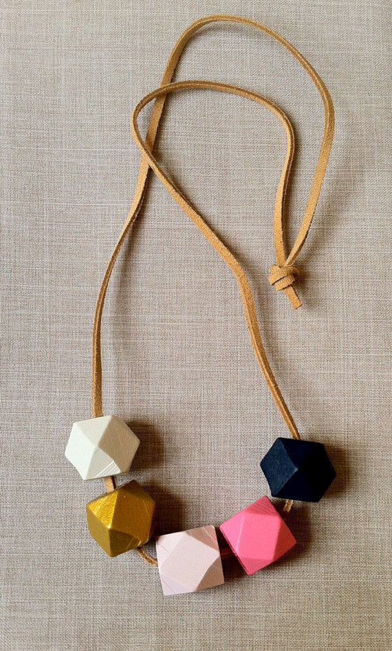 etsy finds geometric shapes: this loves that necklace