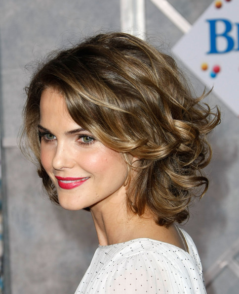Keri Russell choppy hair