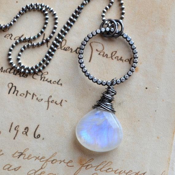 Momtrepreneur: Moon Over Maize: moonstone necklace