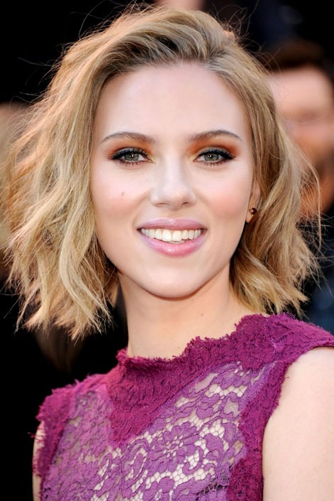 Scarlett Johansson choppy hair