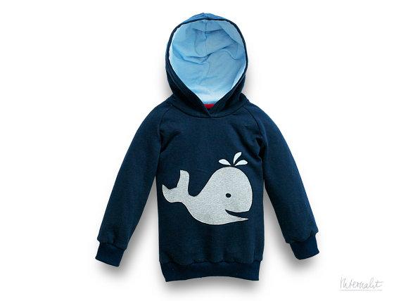 internaht children's whale hoodie
