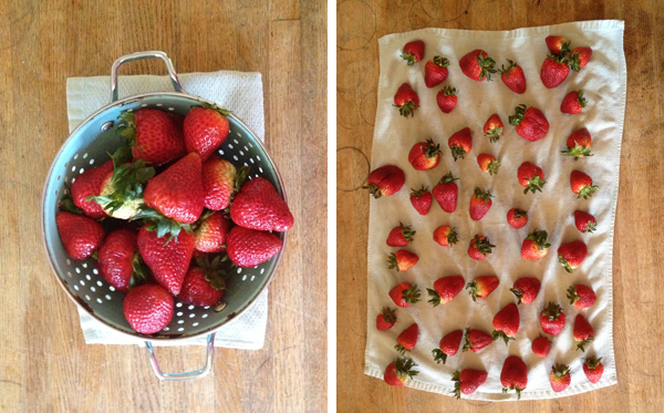 Cuddles and Chaos | make berries last longer: dry strawberries