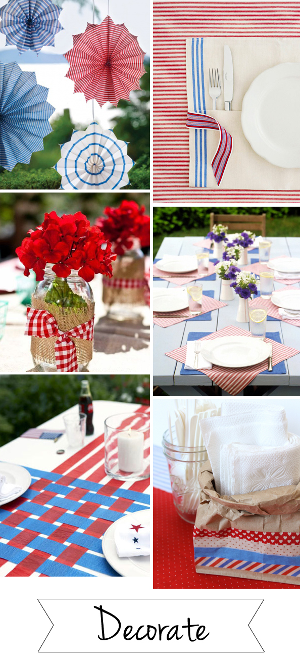 Memorial Day party ideas: decorate