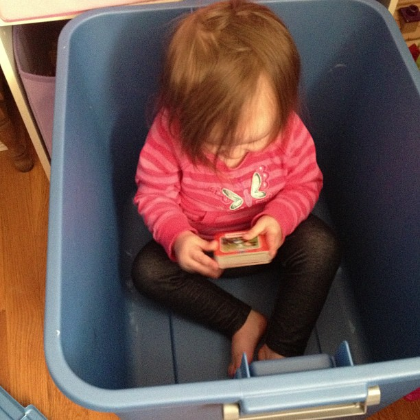 mom dairy: reading in buckets