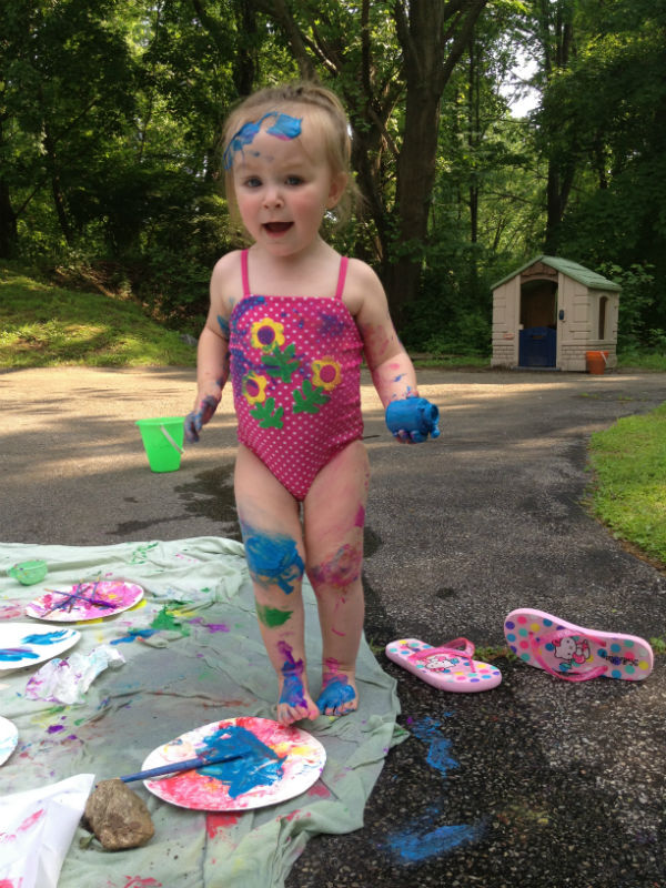 Paint Party: messy Ellie