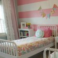 girls room: striped walls
