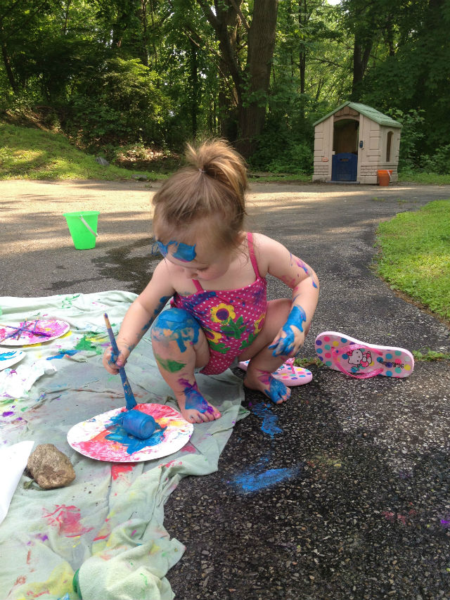 Paint Party Mess #paint #summer #kidcraft #kidactivity
