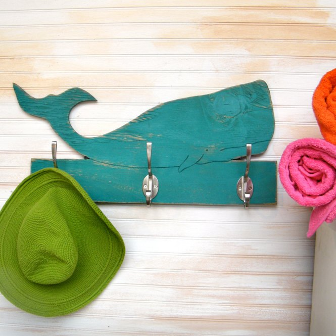 Etsy finds beach edition: whale towel hook