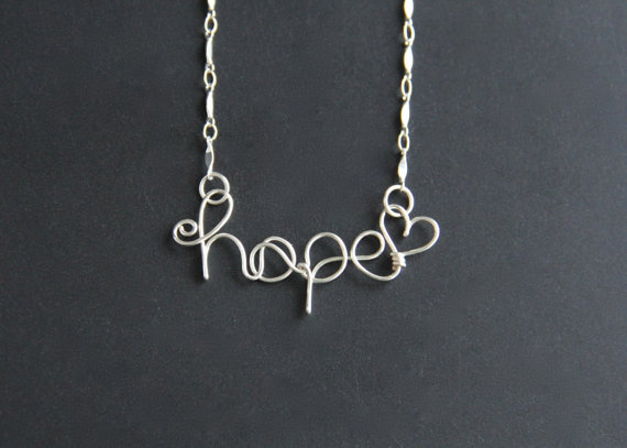 etsy finds: word necklace