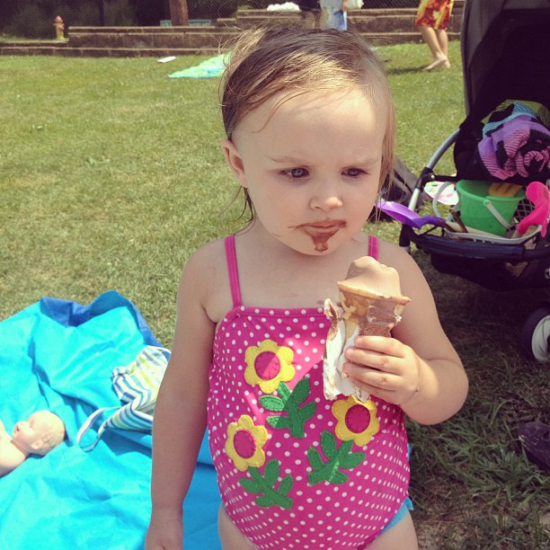 ice cream at the pool