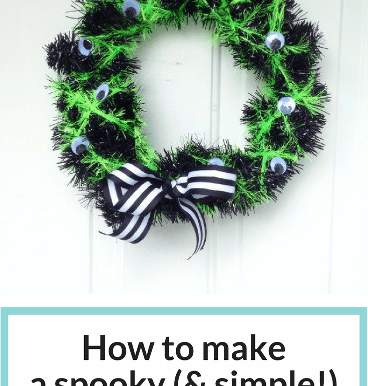 How To Make A Spooky And Simple Diy Halloween Wreath