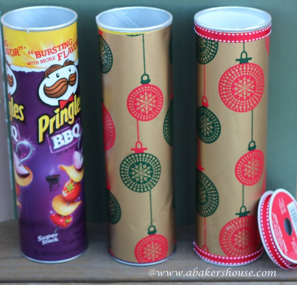 Gift wrap inspiration: Pringles cookie container