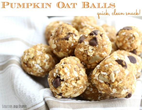 clean eating pumpkin oat balls