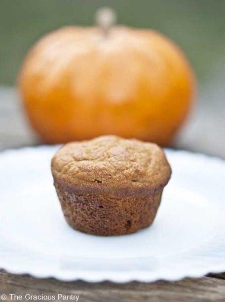 clean eating pumpkin spice mini muffins