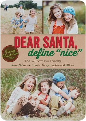 tiny prints holiday cards: dear santa