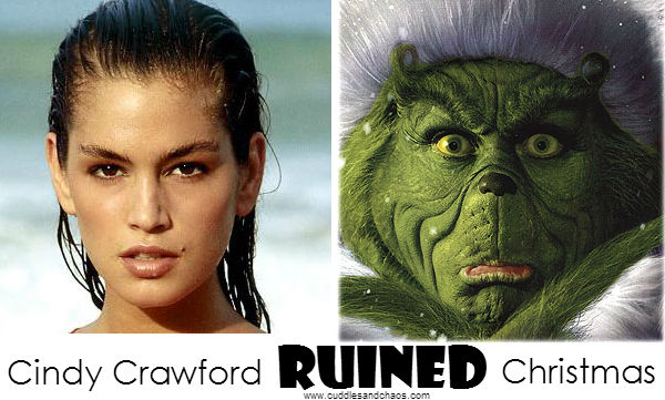 Cindy Crawford ruined Christmas