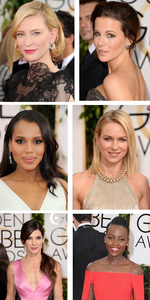 Golden Globes 2014 best hair and makeup