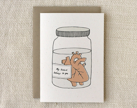 etsy finds: wit and whistle valentine's day card
