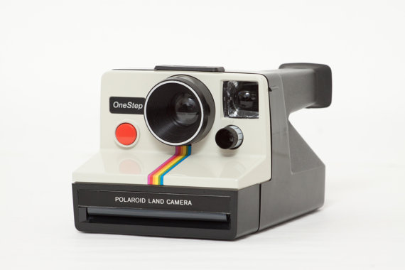 vintage finds: Polaroid OneStep Rainbow SX-70 with flashbar via InstantLand