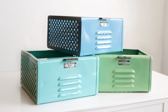 vintage finds: refurbished 1950's locker baskets via Rehab Vintage LA
