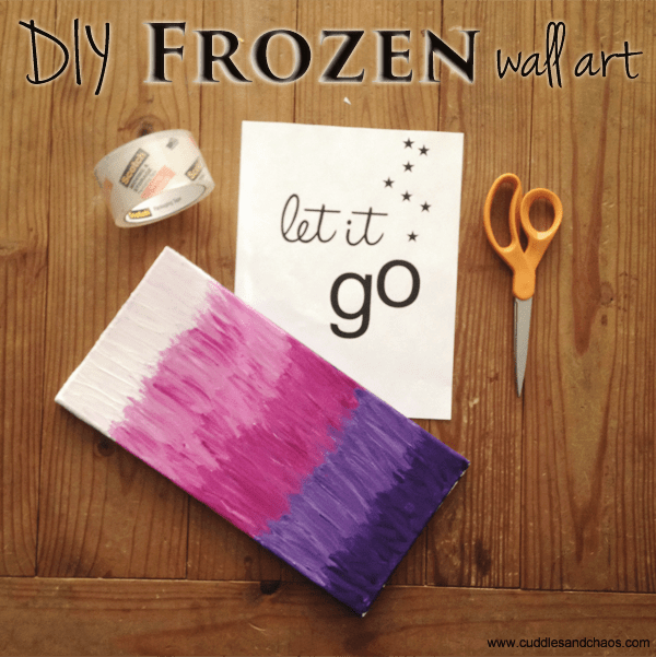 DIY Frozen wall art: Let It Go