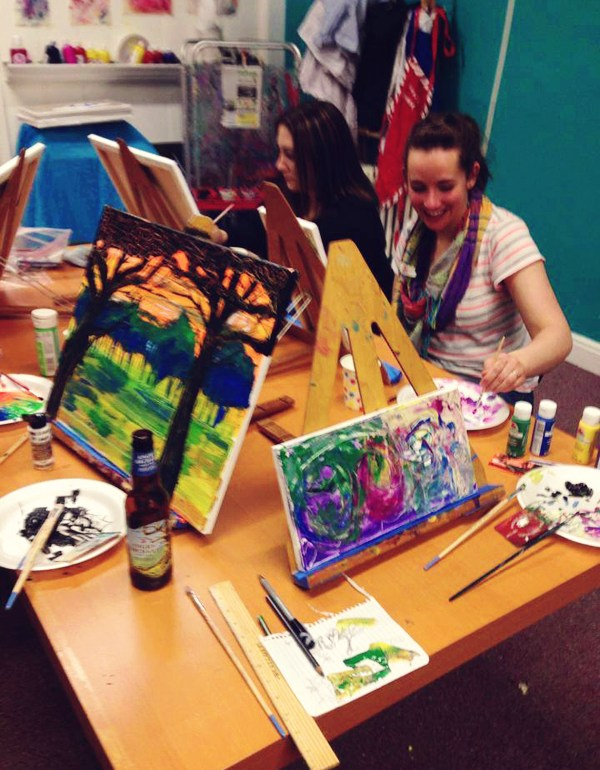 Orange Splot Art Spot: Westchester Girls Crafty Night Out