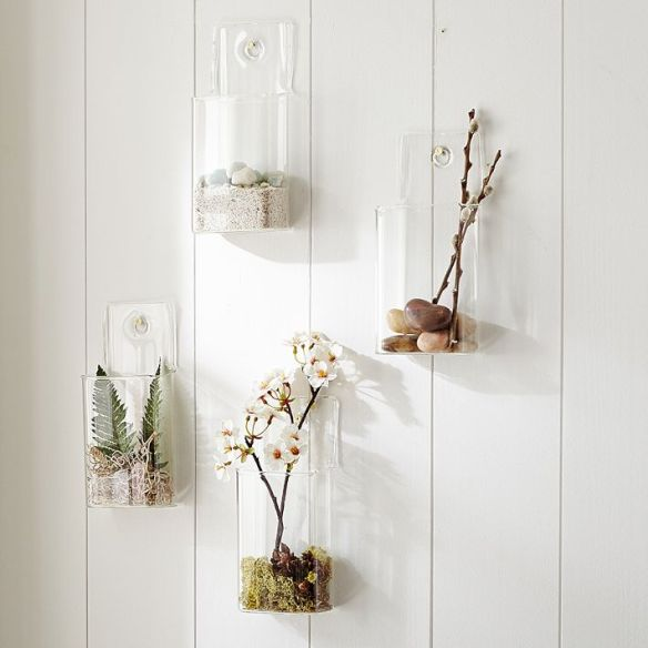 living in PB Teen: wall mounted glass vessels
