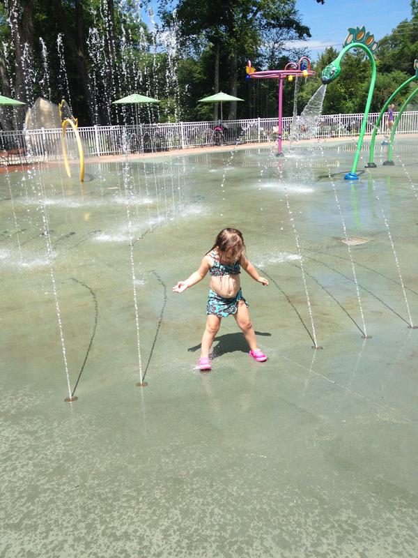 The Dinosaur Place splash pad