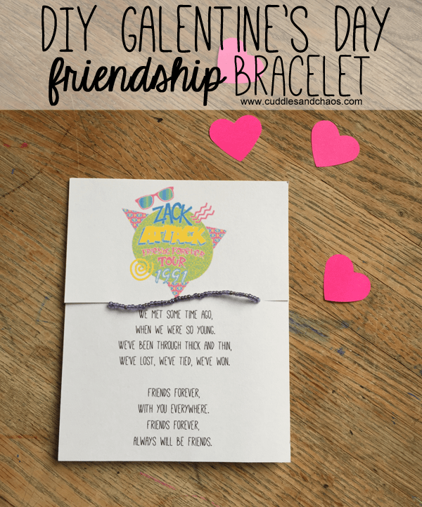 DIY Galentine's Day friendship bracelet