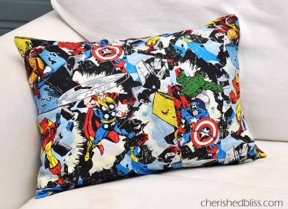 father's day gift guide | DIY comic book superhero pillow