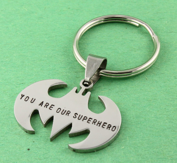 father's day gift guide | Stampin Off the Path superhero key chain