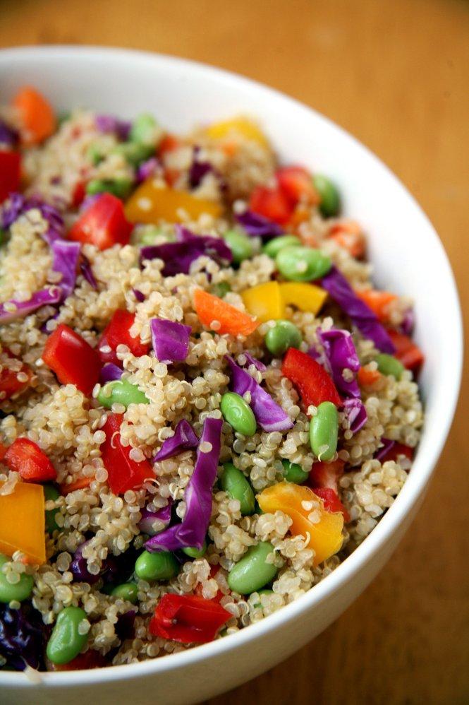 rainbow quinoa salad via POPSUGAR