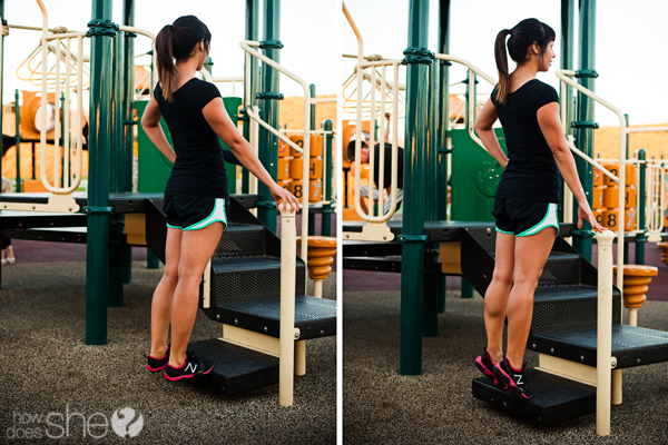 Playground Workouts: calf raises via How Does She?