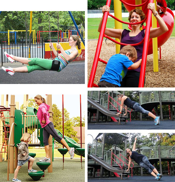 playground workouts for busy mommas