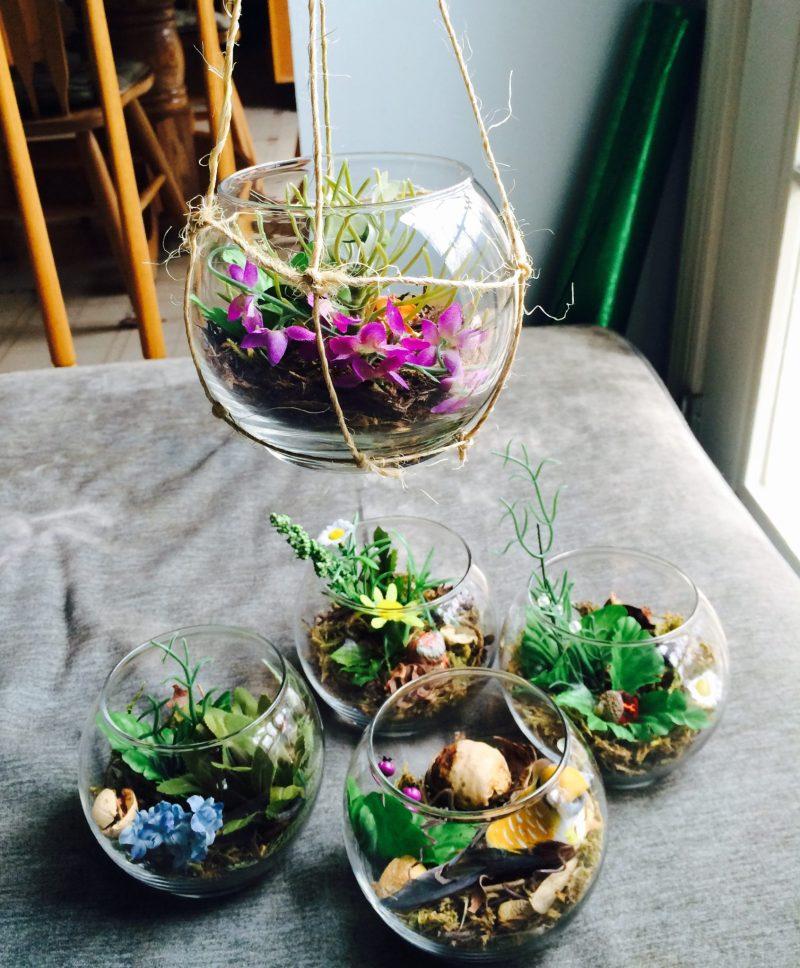 Show Me Your Workspace | handmade terrariums
