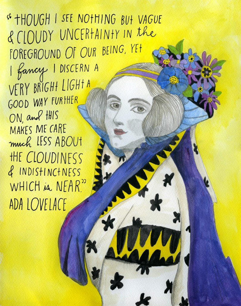Ada Lovelace by Lisa Congdon for The Reconstructionists