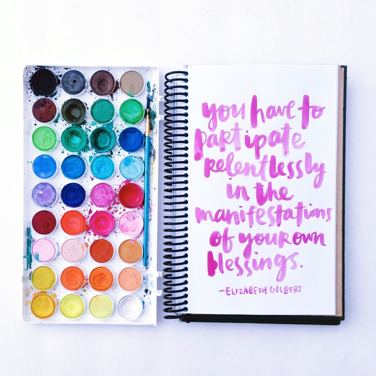 Elizabeth Gilbert quotes | manifestation of your own blessings by Amy Tangerine