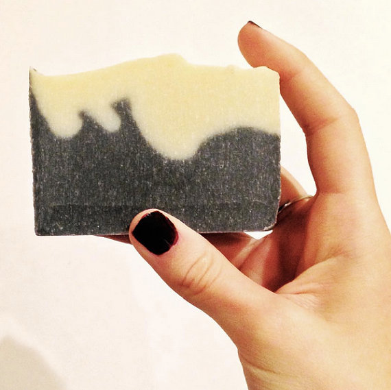 Hudson Valley gift guide | COCOandLI tea tree and bergamot cold press soap with activated bamboo charcoal