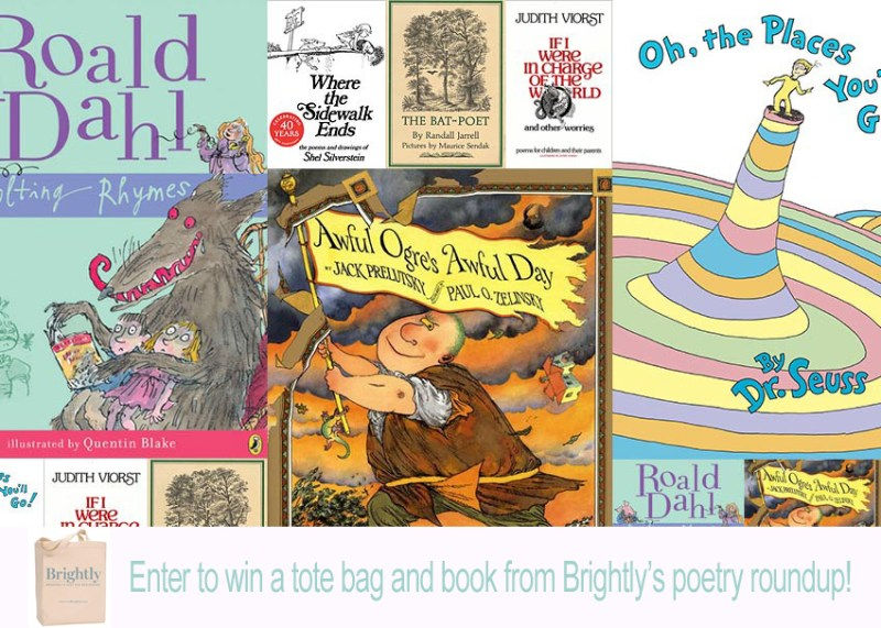 kids poetry book giveaway with brightly