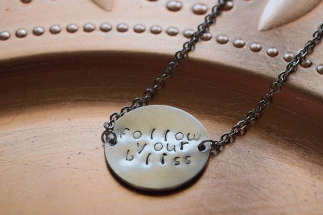Jennifer Garry Designs | follow your bliss necklace - inspirational, mantra jewelry