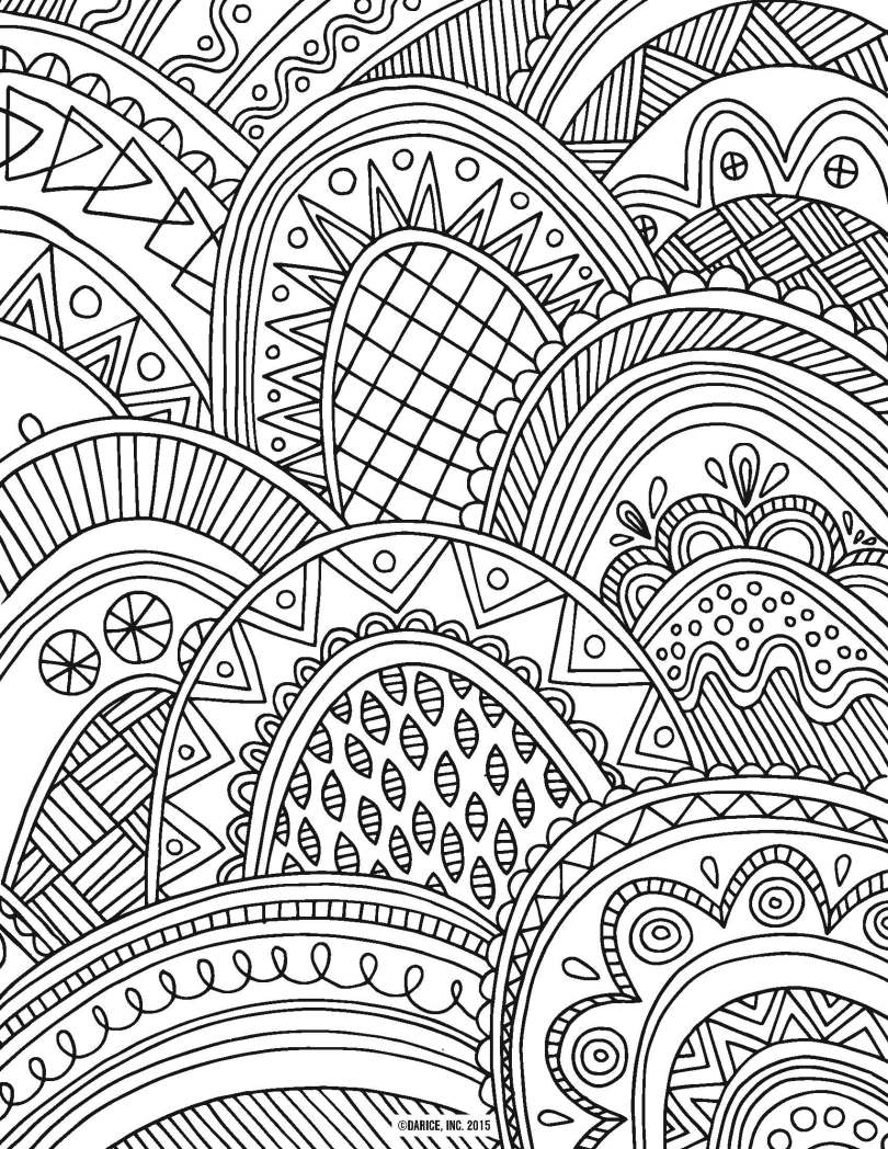 free adult coloring pages   patterned scales