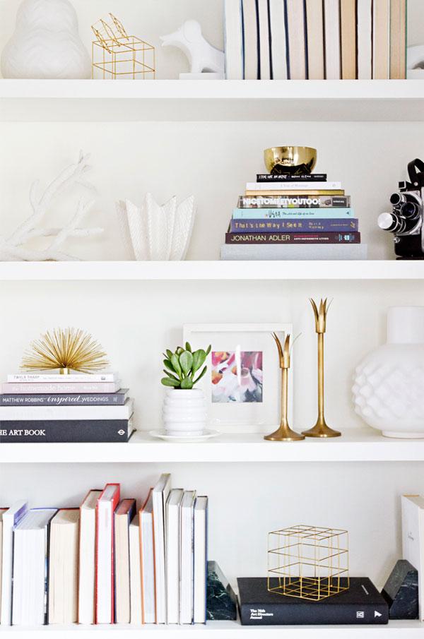 shelf decorating ideas via Apartment 34