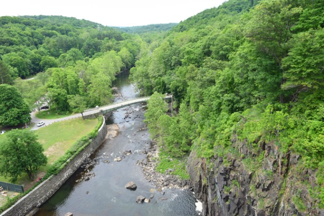 Westchester adventures view from the bridge at Croton Gorge Park