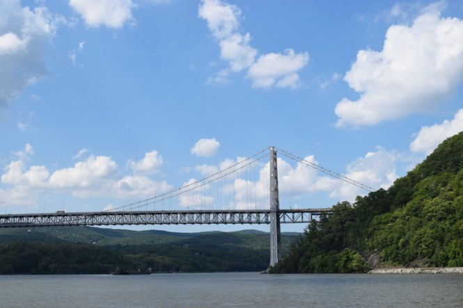 view of Bear Mountain Bridge from Trinity Cruises