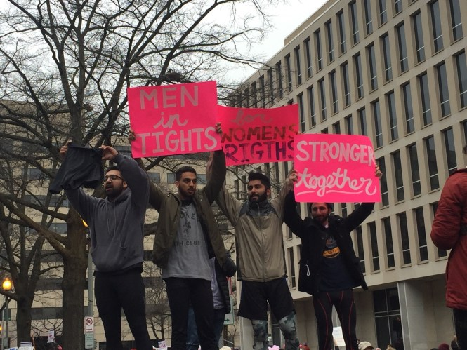 Best signs from the Women's March | Men in tights for women's Rights via the Cut