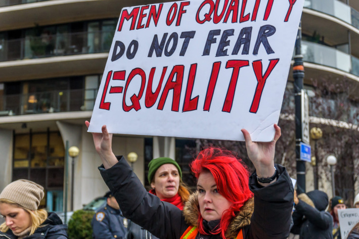 Best Women's March Signs | men of quality do not fear equality the Cut