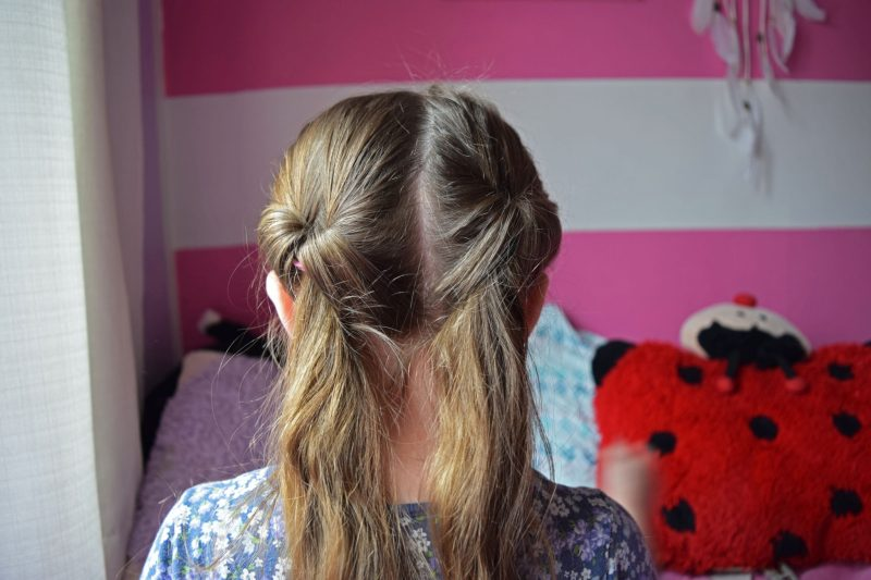 quick easy girls hairstyle: fancy pigtails