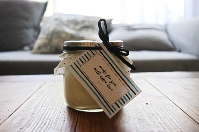 DIY body butter with free gift tag printable